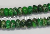 CDE161 15.5 inches 6*10mm rondelle dyed sea sediment jasper beads