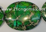 CDE189 15.5 inches 35*45mm oval dyed sea sediment jasper beads
