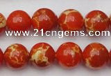 CDE2004 15.5 inches 12mm round dyed sea sediment jasper beads