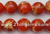 CDE2005 15.5 inches 14mm round dyed sea sediment jasper beads