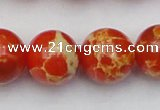 CDE2009 15.5 inches 22mm round dyed sea sediment jasper beads