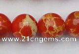 CDE2010 15.5 inches 24mm round dyed sea sediment jasper beads
