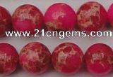 CDE2016 15.5 inches 14mm round dyed sea sediment jasper beads