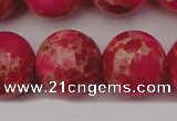 CDE2020 15.5 inches 22mm round dyed sea sediment jasper beads