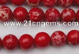 CDE2024 15.5 inches 8mm round dyed sea sediment jasper beads