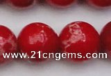 CDE2032 15.5 inches 24mm round dyed sea sediment jasper beads