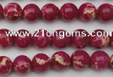 CDE2034 15.5 inches 6mm round dyed sea sediment jasper beads
