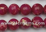 CDE2038 15.5 inches 14mm round dyed sea sediment jasper beads