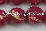 CDE2043 15.5 inches 24mm round dyed sea sediment jasper beads