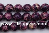 CDE2044 15.5 inches 4mm round dyed sea sediment jasper beads