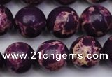 CDE2050 15.5 inches 16mm round dyed sea sediment jasper beads