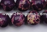 CDE2051 15.5 inches 18mm round dyed sea sediment jasper beads