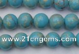 CDE2057 15.5 inches 8mm round dyed sea sediment jasper beads