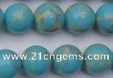 CDE2062 15.5 inches 18mm round dyed sea sediment jasper beads