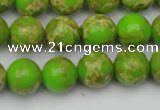 CDE2070 15.5 inches 12mm round dyed sea sediment jasper beads