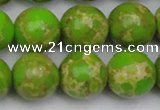 CDE2073 15.5 inches 18mm round dyed sea sediment jasper beads