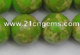 CDE2075 15.5 inches 22mm round dyed sea sediment jasper beads