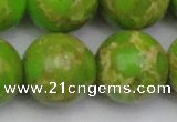 CDE2076 15.5 inches 24mm round dyed sea sediment jasper beads