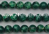 CDE2078 15.5 inches 6mm round dyed sea sediment jasper beads