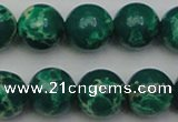 CDE2082 15.5 inches 14mm round dyed sea sediment jasper beads