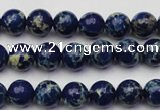CDE2088 15.5 inches 4mm round dyed sea sediment jasper beads