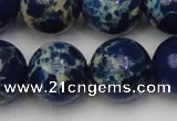 CDE2095 15.5 inches 18mm round dyed sea sediment jasper beads