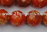 CDE2108 15.5 inches 22mm faceted round dyed sea sediment jasper beads