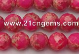CDE2111 15.5 inches 8mm faceted round dyed sea sediment jasper beads