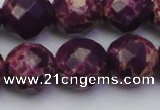 CDE2149 15.5 inches 24mm faceted round dyed sea sediment jasper beads