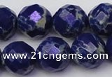 CDE2218 15.5 inches 22mm faceted round dyed sea sediment jasper beads