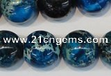 CDE222 15.5 inches 20mm round dyed sea sediment jasper beads