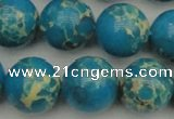 CDE2237 15.5 inches 16mm round dyed sea sediment jasper beads