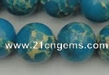 CDE2240 15.5 inches 22mm round dyed sea sediment jasper beads