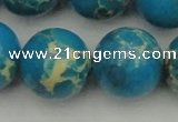 CDE2241 15.5 inches 24mm round dyed sea sediment jasper beads