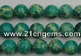 CDE2242 15.5 inches 4mm round dyed sea sediment jasper beads