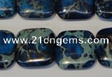 CDE241 15.5 inches 20*20mm square dyed sea sediment jasper beads