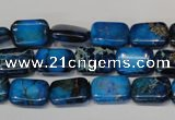 CDE244 15.5 inches 10*14mm rectangle dyed sea sediment jasper beads
