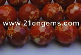CDE2500 15.5 inches 14mm faceted round dyed sea sediment jasper beads
