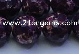 CDE2540 15.5 inches 24mm faceted round dyed sea sediment jasper beads