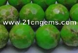 CDE2558 15.5 inches 18mm faceted round dyed sea sediment jasper beads