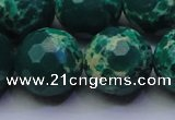 CDE2574 15.5 inches 20mm faceted round dyed sea sediment jasper beads