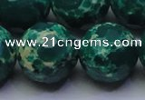CDE2575 15.5 inches 22mm faceted round dyed sea sediment jasper beads