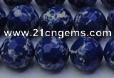 CDE2579 15.5 inches 14mm faceted round dyed sea sediment jasper beads