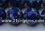 CDE2583 15.5 inches 22mm faceted round dyed sea sediment jasper beads