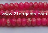 CDE2608 15.5 inches 5*8mm rondelle dyed sea sediment jasper beads