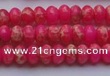 CDE2609 15.5 inches 7*10mm rondelle dyed sea sediment jasper beads