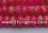 CDE2612 15.5 inches 12*16mm rondelle dyed sea sediment jasper beads