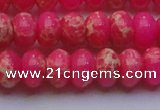 CDE2614 15.5 inches 15*20mm rondelle dyed sea sediment jasper beads
