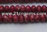 CDE2625 15.5 inches 7*10mm rondelle dyed sea sediment jasper beads