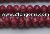 CDE2628 15.5 inches 12*16mm rondelle dyed sea sediment jasper beads